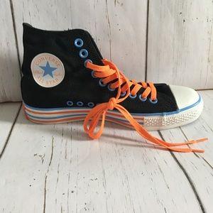 Converse Black Canvas High Tops Kids Size 6